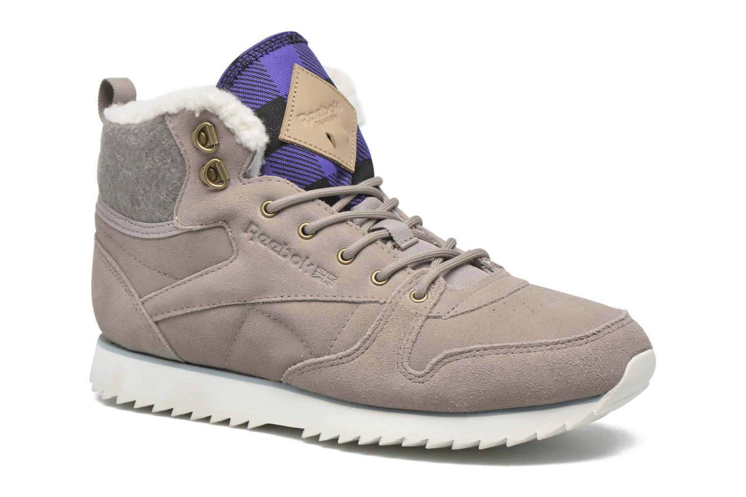 Trainers Reebok Cl Lthr Mid Outdoor Grey detailed view/ Pair view