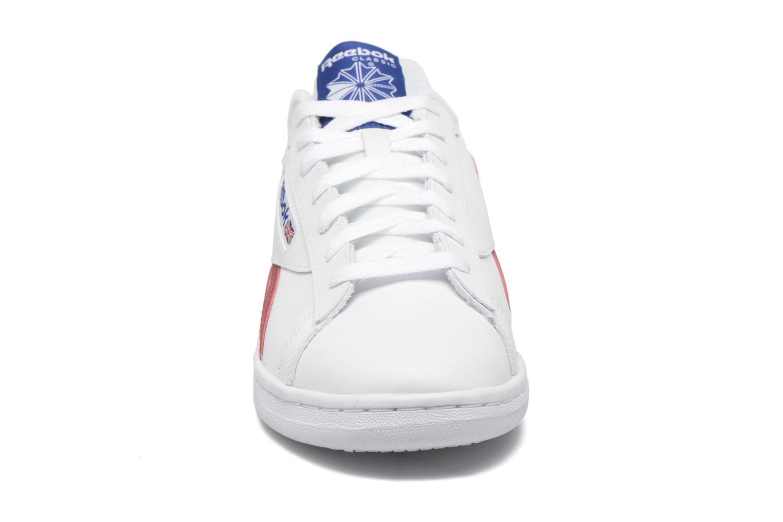 Baskets Reebok Npc Uk Retro Blanc vue portées chaussures
