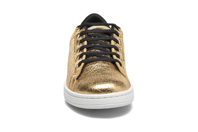 Baskets Gioseppo Technic Or et bronze vue portées chaussures
