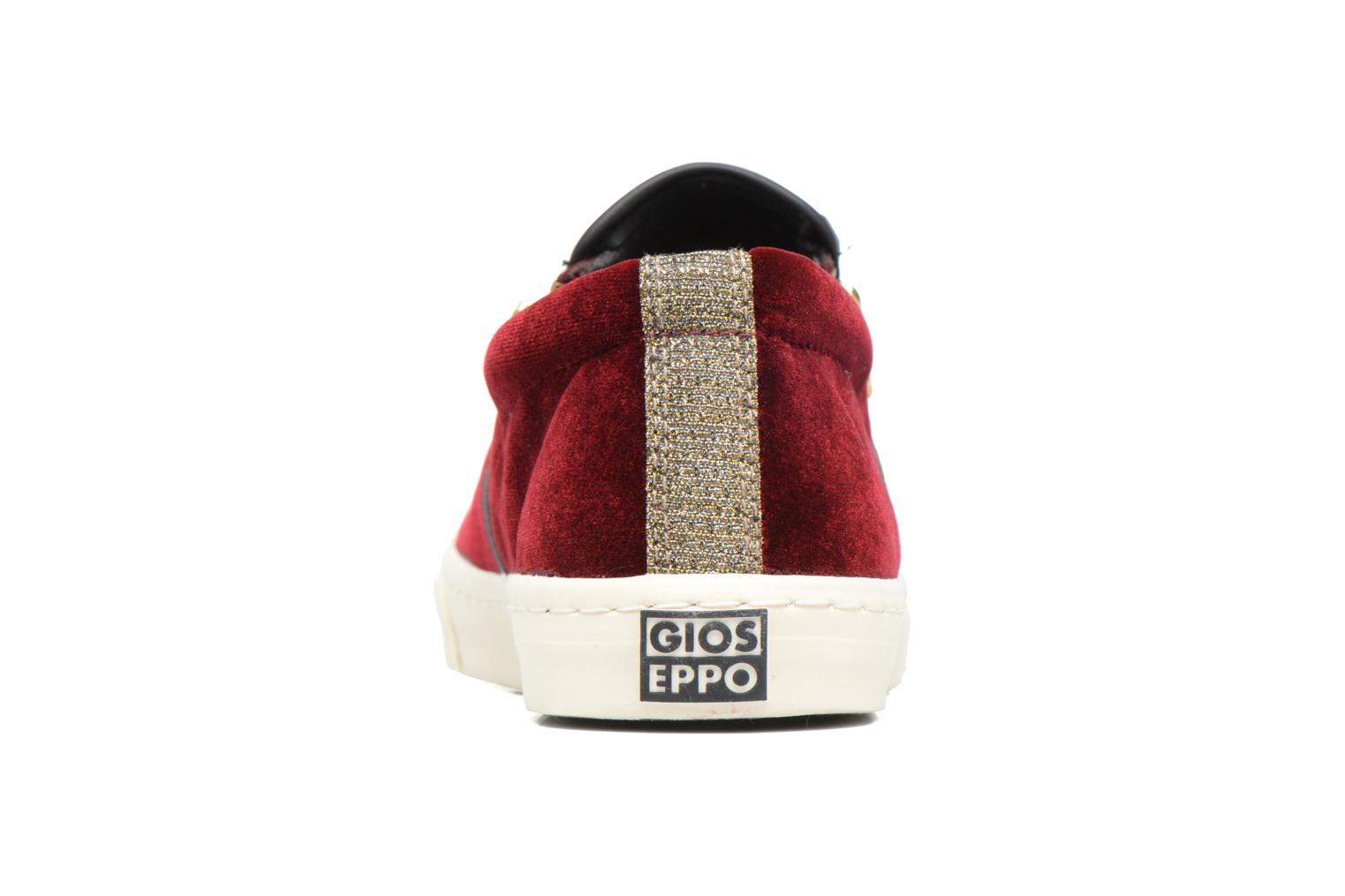 Trainers Gioseppo Rolap Burgundy view from the right