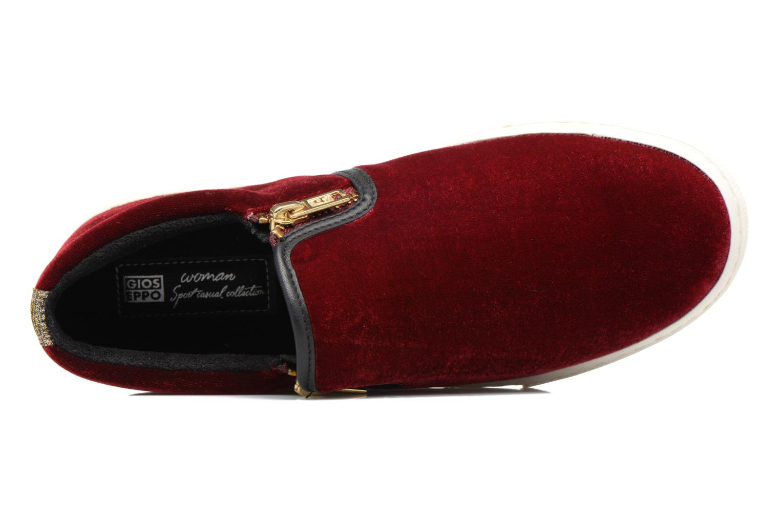 Trainers Gioseppo Rolap Burgundy view from the left