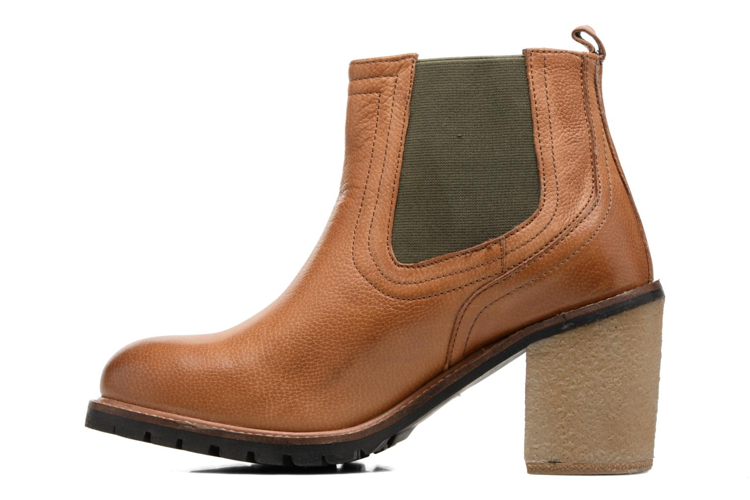 Ankle boots Gioseppo Izard Brown front view