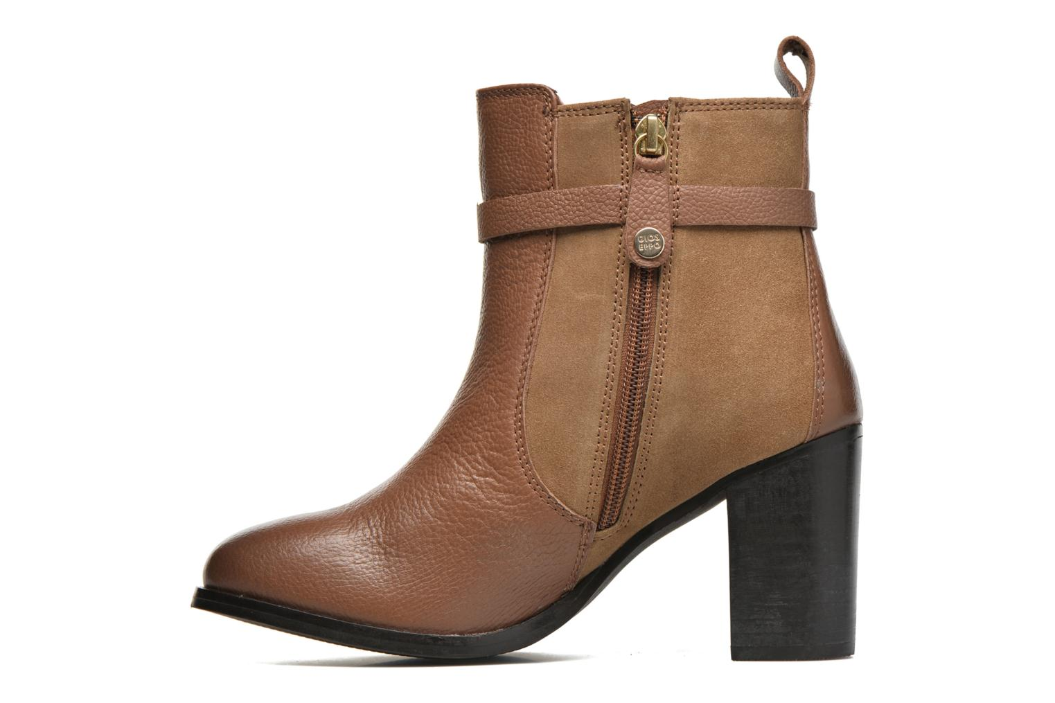Ankle boots Gioseppo Bogalusa Brown front view