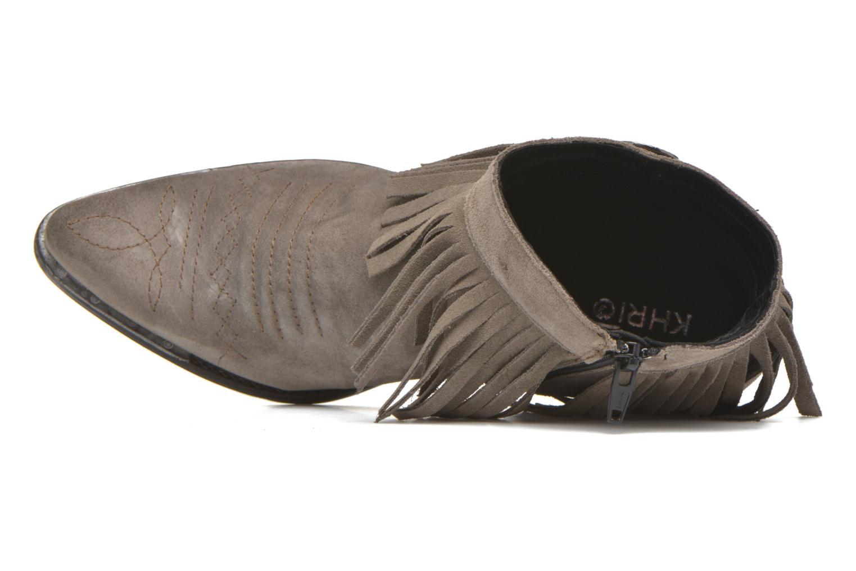 Bottines et boots Khrio Samantha Gris vue gauche