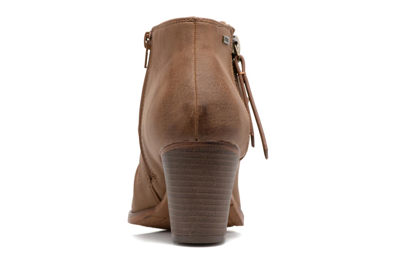 Bottines et boots MTNG West Marron vue droite
