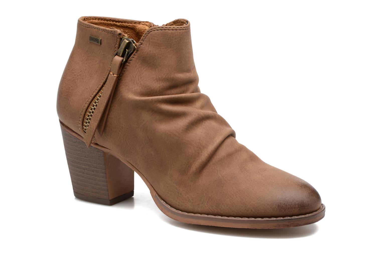 Bottines et boots MTNG West Marron vue détail/paire