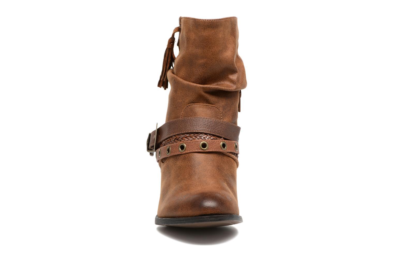 Bottines et boots MTNG Wendy Marron vue portées chaussures
