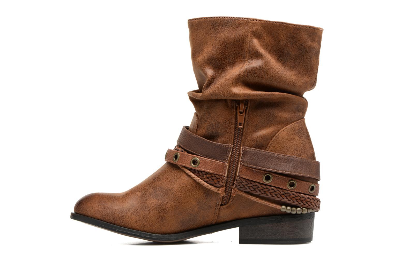 Bottines et boots MTNG Wendy Marron vue face