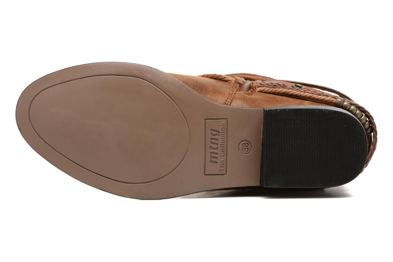 Bottines et boots MTNG Wendy Marron vue haut