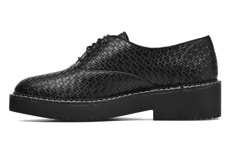Chaussures à lacets MTNG Pinky Noir vue face