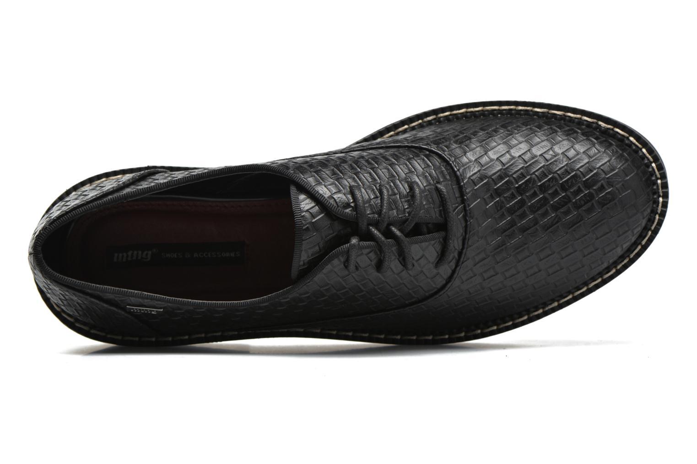 Chaussures à lacets MTNG Pinky Noir vue gauche