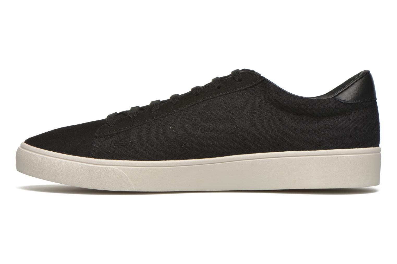 Sneakers Fred Perry Spencer Herringbone Zwart voorkant