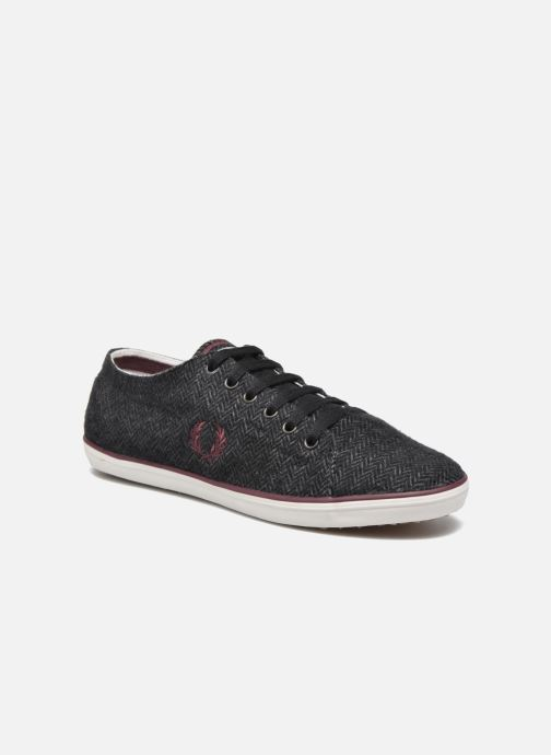 Baskets Fred Perry Kingston Tweed Gris vue détail/paire
