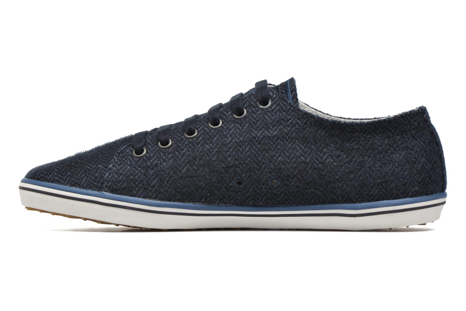 Baskets Fred Perry Kingston Tweed Bleu vue face