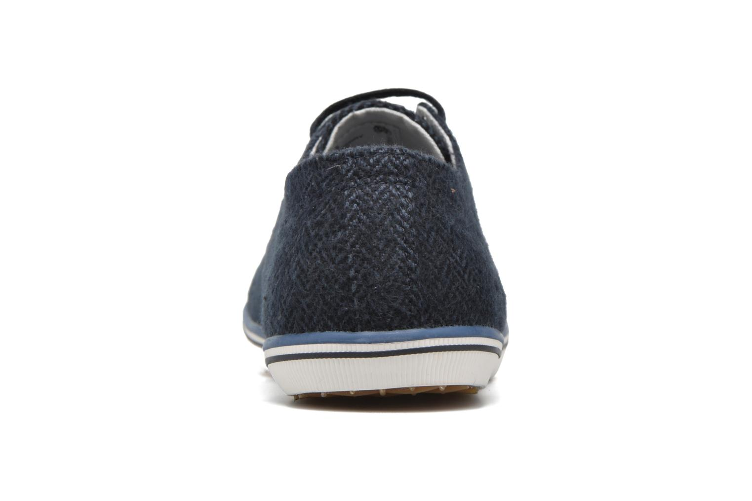 Baskets Fred Perry Kingston Tweed Bleu vue droite