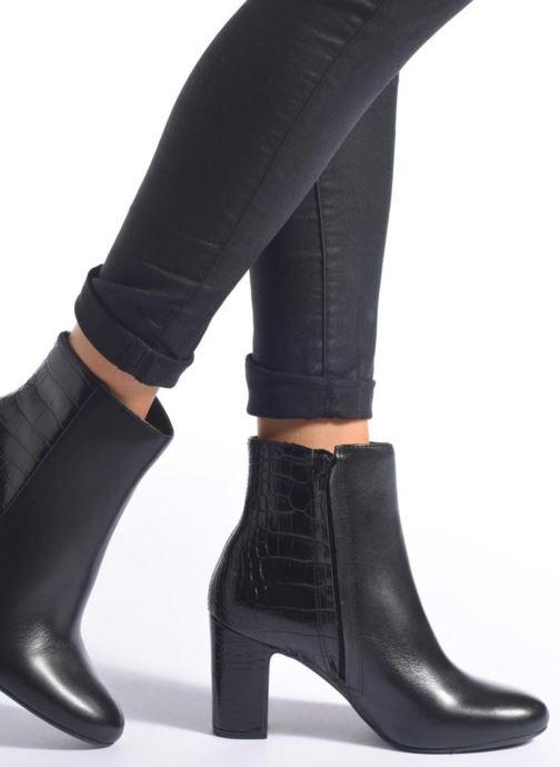 Bottines et boots Dune London Opel Noir vue bas / vue portée sac