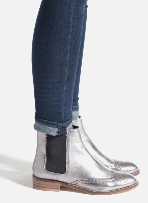 Bottines et boots Dune London Quentin Argent vue bas / vue portée sac