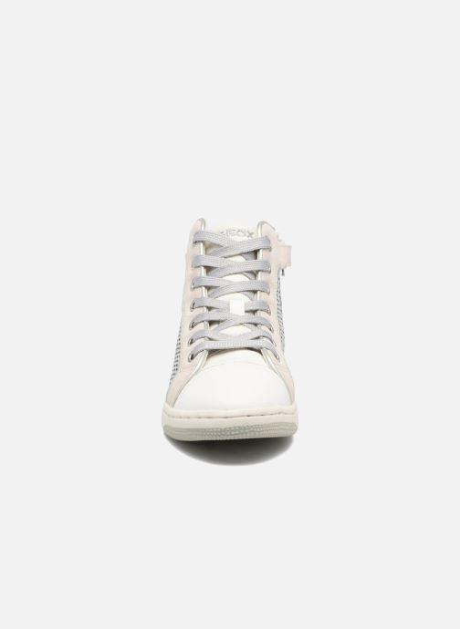Baskets Geox J Creamy E J62L5E Argent vue portées chaussures