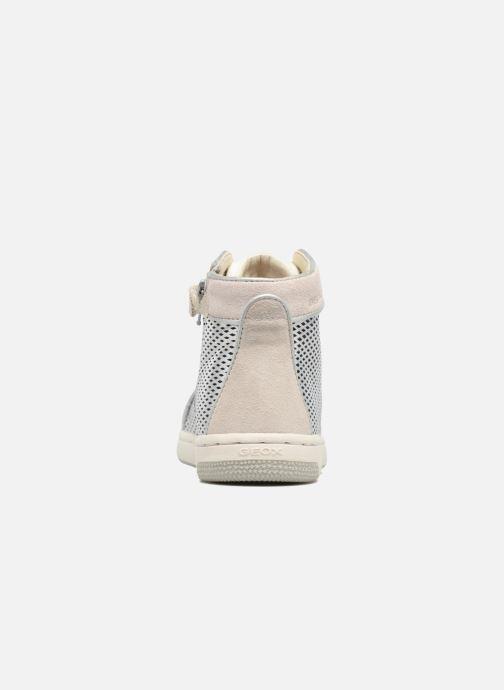Sneakers Geox J Creamy E J62L5E Zilver rechts