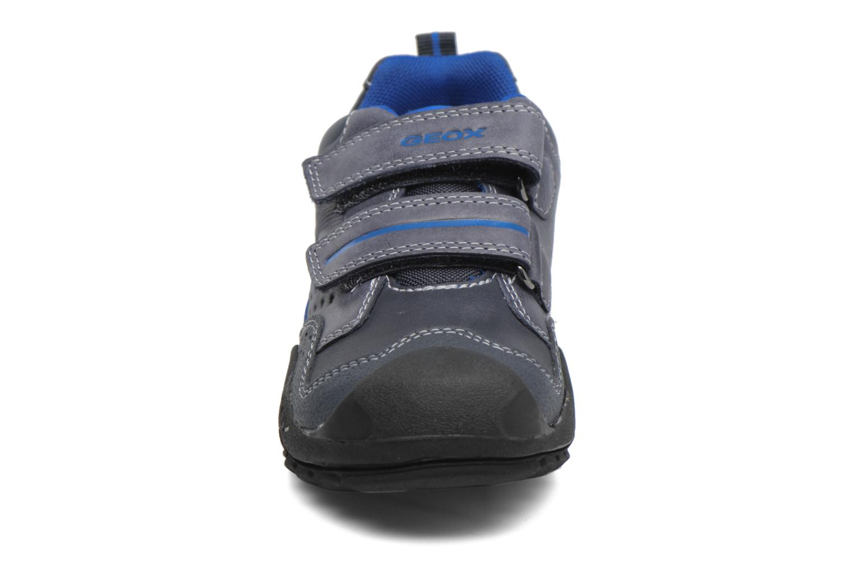 Chaussures à scratch Geox J N.Savage B.A J641VA Noir vue portées chaussures