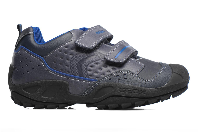 Chaussures à scratch Geox J N.Savage B.A J641VA Noir vue derrière