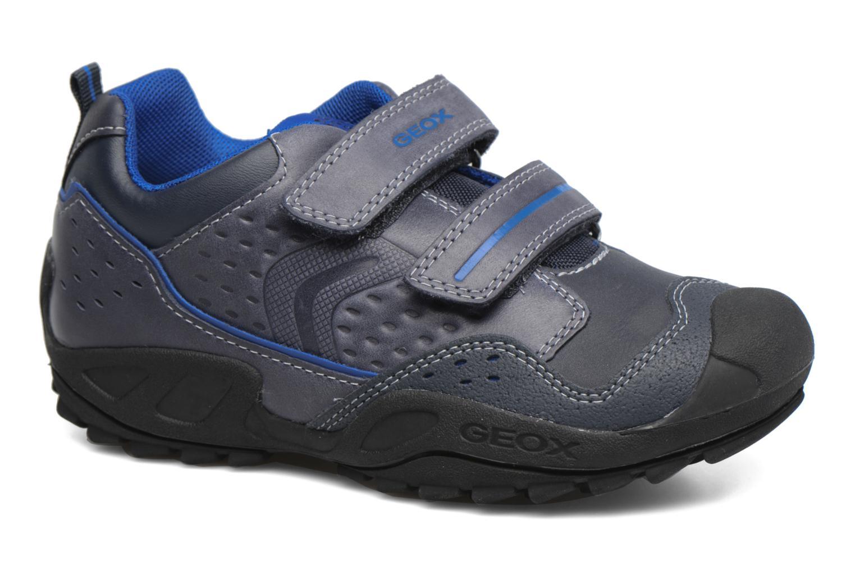 Chaussures à scratch Geox J N.Savage B.A J641VA Noir vue détail/paire