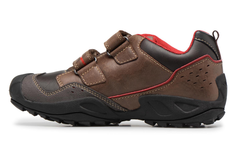 Chaussures à scratch Geox J N.Savage B.A J641VA Marron vue face