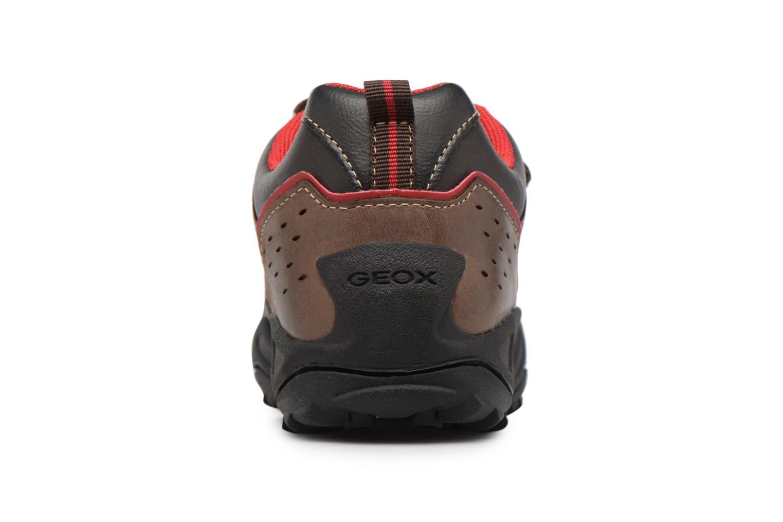 Chaussures à scratch Geox J N.Savage B.A J641VA Marron vue droite