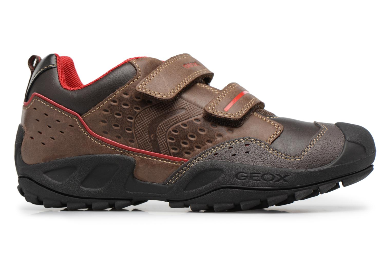 Chaussures à scratch Geox J N.Savage B.A J641VA Marron vue derrière