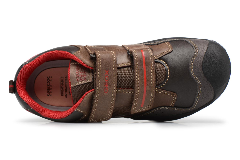 Chaussures à scratch Geox J N.Savage B.A J641VA Marron vue gauche