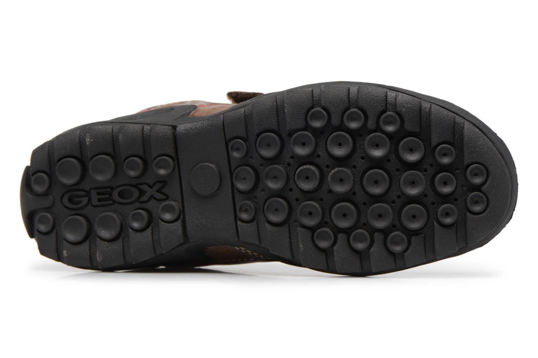 Chaussures à scratch Geox J N.Savage B.A J641VA Marron vue haut