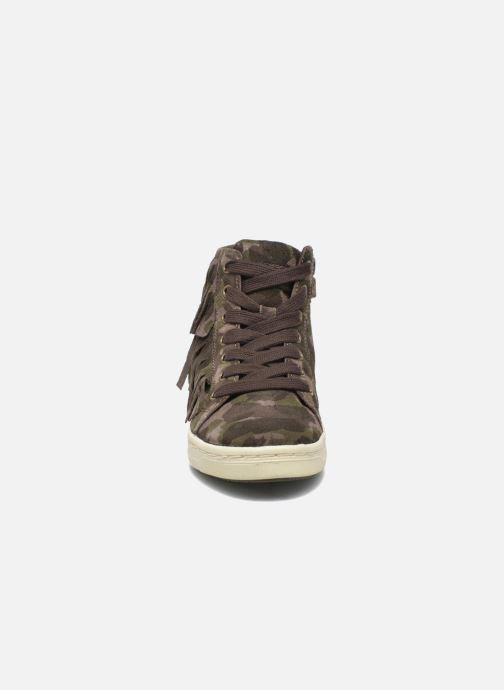 Baskets Geox J Aveup G. F J641ZF Vert vue portées chaussures
