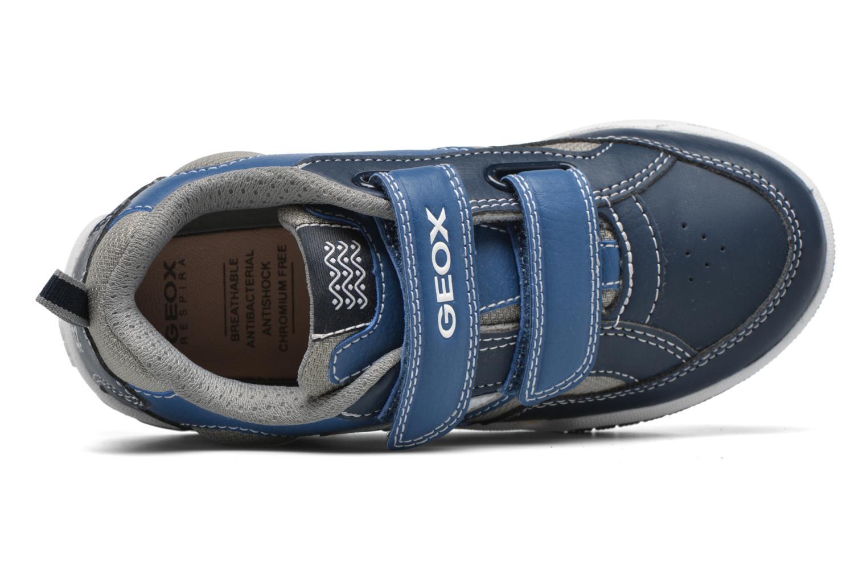 Baskets Geox J Gregg B J6447B Bleu vue gauche