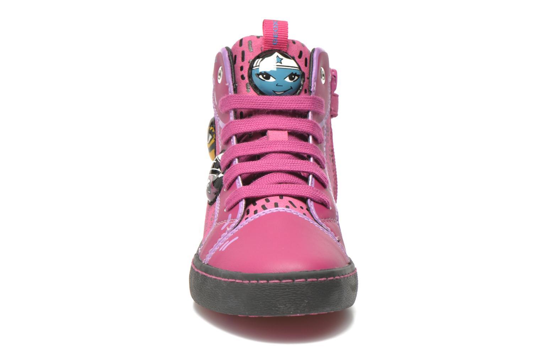 Baskets Geox J Kiwi G. A J64D5A Rose vue portées chaussures