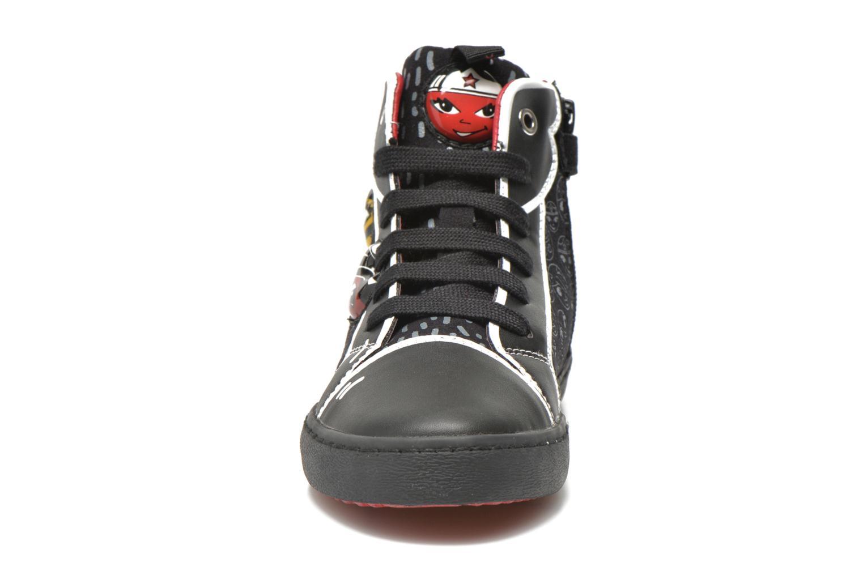 Baskets Geox J Kiwi G. A J64D5A Noir vue portées chaussures