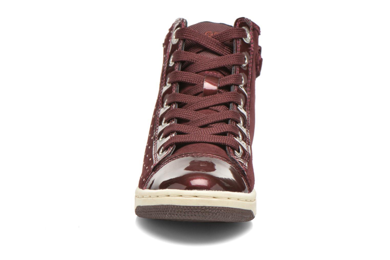 Baskets Geox J Creamy A J64L5A Bordeaux vue portées chaussures