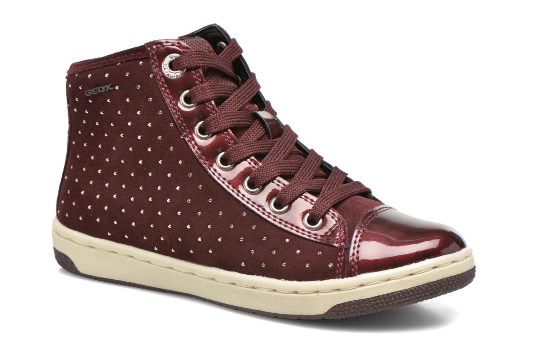 Baskets Geox J Creamy A J64L5A Bordeaux vue détail/paire