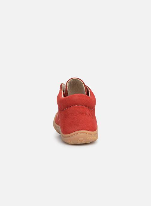 Botines  Pepino Cory Rojo vista lateral derecha