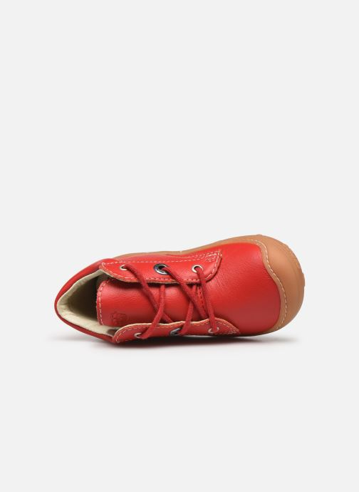 Botines  Pepino Cory Rojo vista lateral izquierda