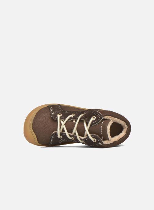 Zapatos con cordones Pepino George Marrón vista lateral izquierda
