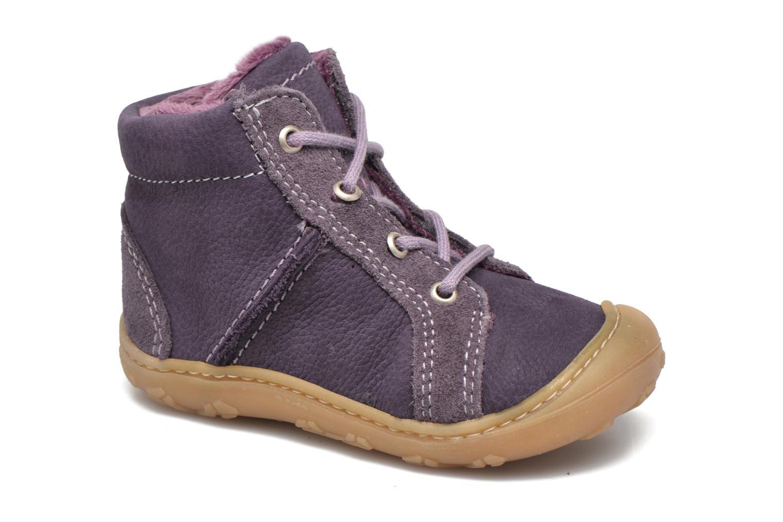 Chaussures à lacets PEPINO George Violet vue détail/paire