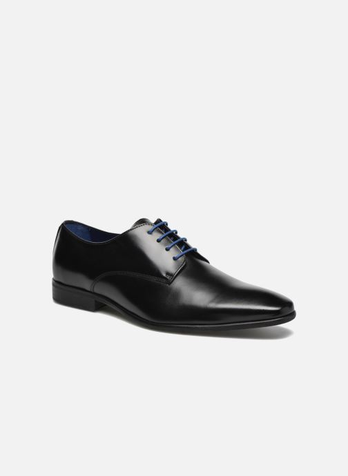 Lace-up shoes Azzaro Jory Black detailed view/ Pair view