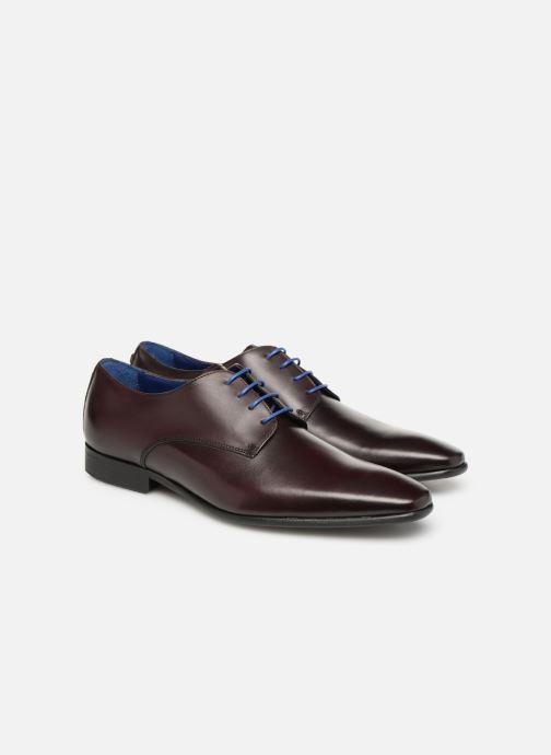 Chaussures à lacets Azzaro Jory Bordeaux vue 3/4