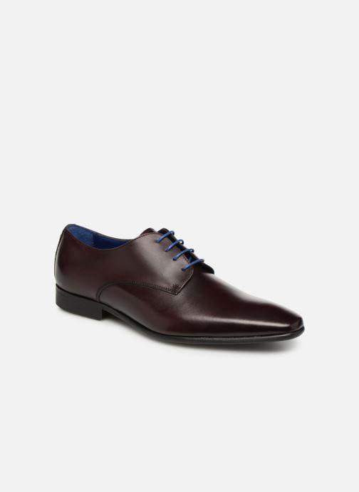 Chaussures à lacets Azzaro Jory Bordeaux vue détail/paire