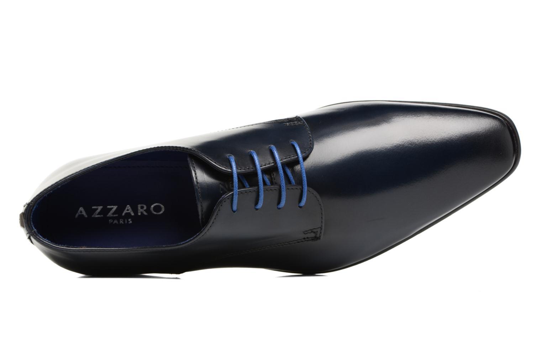 Zapatos con cordones Azzaro Jory Azul vista lateral izquierda