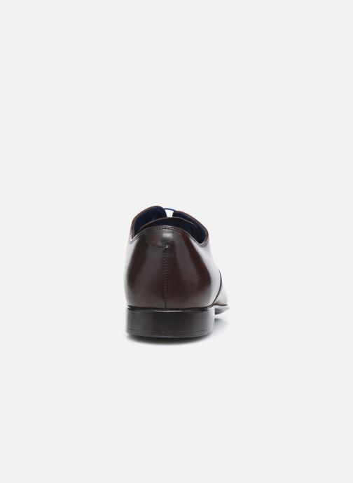 Zapatos con cordones Azzaro Nobodar Marrón vista lateral derecha