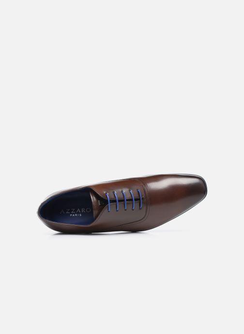 Zapatos con cordones Azzaro Nobodar Marrón vista lateral izquierda