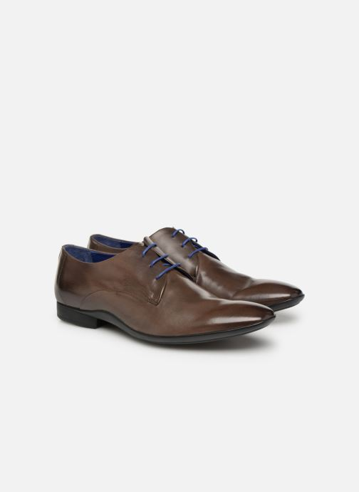 Lace-up shoes Azzaro Outino Brown 3/4 view