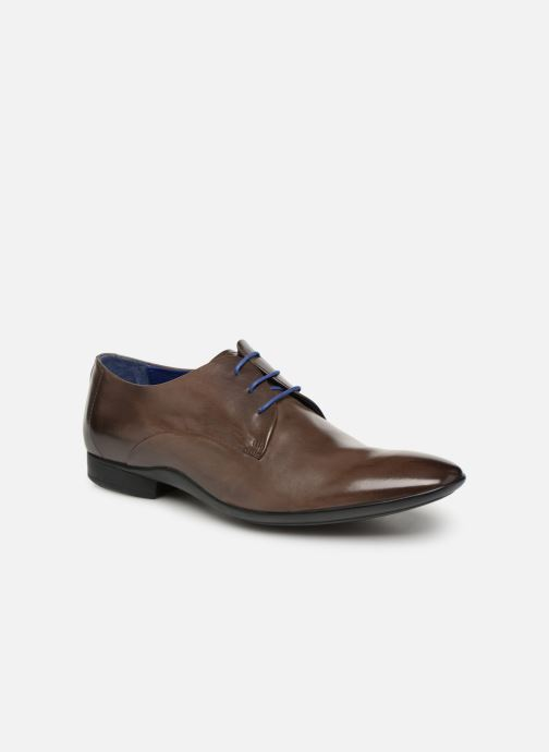 Lace-up shoes Azzaro Outino Brown detailed view/ Pair view