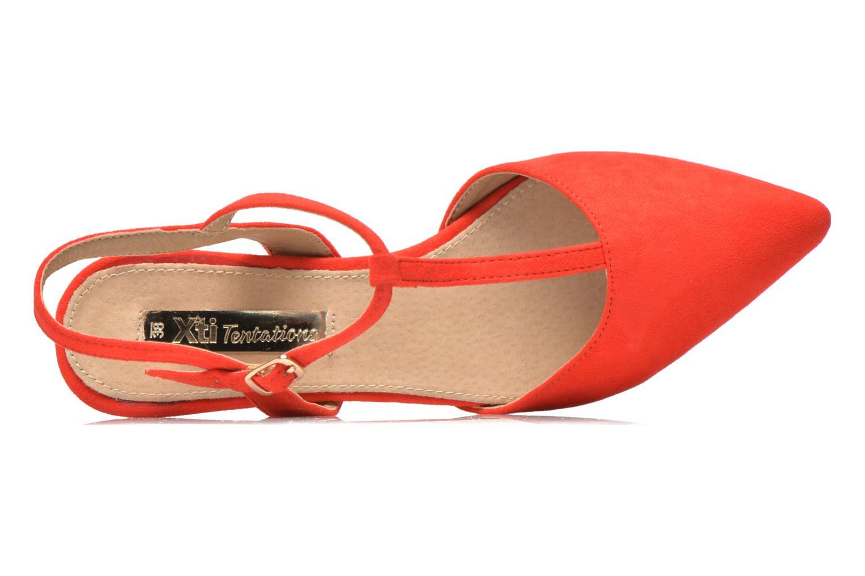 Sandales et nu-pieds Xti Mayotte 30101 Rouge vue gauche